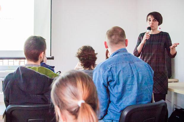 Ela Ustupska podczas prezentacji naWomen in Technology