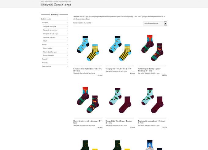 Sklep internetowy StyleToGo, widok kategorii
